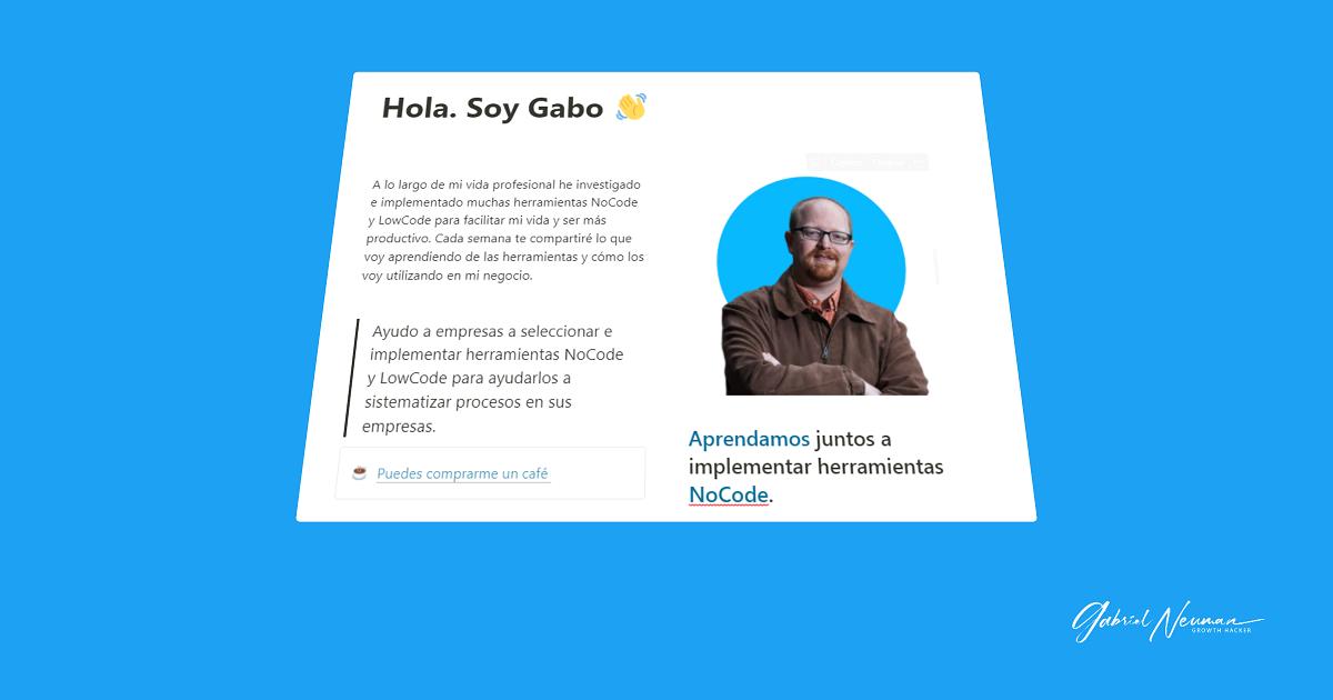 NoCode Gabo
